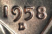 1958 D/D LINCOLN WHEAT CENT RPM 002   D/D/D 1MM 002 ON COPPERCOINS   HIGH GRADE