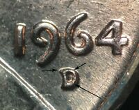 1964 D/D LINCOLN MEMORIAL CENT RPM 014 B/U