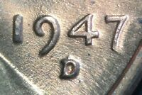 1947 D/D LINCOLN WHEAT CENT RPM 001 B/U   NICE