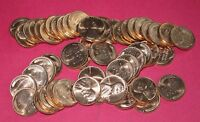 1956 D LINCOLN WHEAT CENT ROLL  50 COINS    B/U NICE