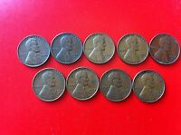 US COINS LINCOLN WHEAT CENT 1952 S 1952 D 1953 S 1953 D 1954 S 1097