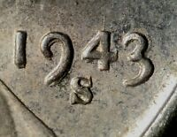 1943 S LINCOLN WHEAT CENT DOUBLED DIE DDO 001 FS 101 STAGE A   AU