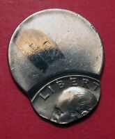 NO DATE CLAD WASHINGTON QUARTER MINT ERROR OFF CENTER 75    UNCIRCULATED