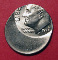 1994 D ROOSEVELT DIME MINT ERROR   OFF CENTER 43    BETTER DATE   UNC