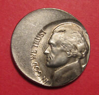 JEFFERSON NICKEL MINT ERROR OFF CENTER 32    TRIPLE DIE CLASH   STEPS   B/U