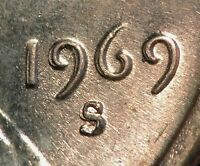 1969 S LINCOLN MEMORIAL CENT   MACHINE DOUBLED DATE MM LIBERTY  MD    STRONG
