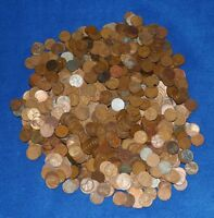 1000 LINCOLN WHEAT CENTS 1909 1958 P D S LOT   CULL BAG   7 POUNDS OF PENNIES