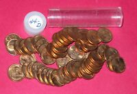 1944 D LINCOLN WHEAT CENT ROLL  50 COINS    B/U