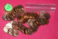 1953 LINCOLN WHEAT CENT ROLL  50 COINS    B/U