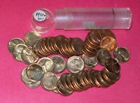 1955 LINCOLN WHEAT CENT ROLL  50 COINS    B/U