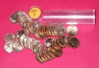 1956 LINCOLN WHEAT CENT ROLL  50 COINS    B/U