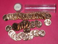 1956 D LINCOLN WHEAT CENT ROLL  50 COINS    B/U