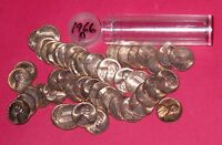 1966 LINCOLN MEMORIAL CENT ROLL  50 COINS    B/U