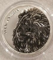2018 REPUBLIC OF CHAD AFRICAN LION 1 OZ .999 SILVER FRANC 5 000 COIN LION KING