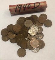 1940D ROLL OF LINCOLN WHEAT PENNIES