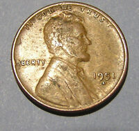 1951-D LINCOLN WHEAT CENT CIRCULATED. FREE S&H US ONLY