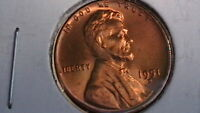 1951-D LINCOLN CENT BRILLIANT UNCIRCULATED FULL RED GEM   050