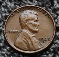 1935-S LINCOLN WHEAT CENT PENNY EXTRA FINE  CONDITION