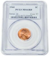 1944 MINT STATE 66RD WHEAT CENT 1C ONE CENT SERIES 14 COIN 97 PCGS