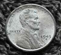 1943 S LINCOLN WHEAT CENT STEEL EXTRA FINE EXTRA FINE  TO AU PENNY
