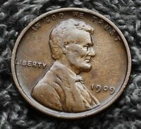 1909-P LINCOLN WHEAT CENT PENNY FINE TO VF CIRCULATED