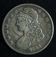 1834 CAPPED BUST SILVER HALF DOLLAR   CIRCULATED HALF