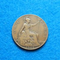 1908 GREAT BRITAIN PENNY,  OLD COIN - SEE PICS