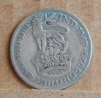 1929 KING GEORGE V SHILLING  50 SILVER COIN U.K SILVER COIN