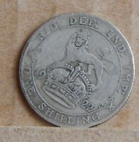 1922 SHILLING KING GEORGE V 50 SILVER COIN BRITISH SILVER COIN .