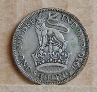 1936 KING  GEORGE V SHILLING 50 SILVER COIN ENGLISH BRITISH SILVER COIN