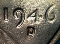 1946 D/D LINCOLN WHEAT CENT RPM 009  WRPM 007   EXCEEDINGLY  AND UNC