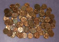 100 LINCOLN WHEAT CENT PENNY LOT  AU /  1940S AND 1950S   MIXED DATES