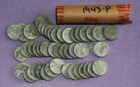 1943 LINCOLN WHEAT CENT ROLL