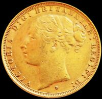 1883 S GOLD AUSTRALIA SOVEREIGN 7.98 GRAMS VICTORIA YOUNG HE