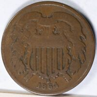 1864 TWO CENT PIECE GOOD