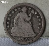 1852 O LIBERTY SEATED HALF DIME  FREE SH AFTER 1ST ITEM