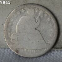 1840 LIBERTY SEATED HALF DIME  FREE SH AFTER 1ST ITEM