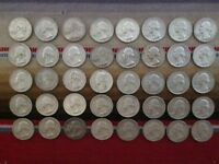 LOT OF  40  1964 WASHINGTON SILVER QUARTERS IN CIRCULATED CO