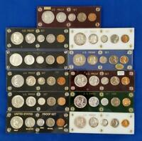 11 US SILVER 5 COIN PROOF SETS 1954 THRU 1964 MOSTLY IN CAPI