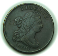 1800 DRAPED BUST COPPER HALF CENT