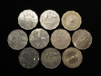 AUSTRALIA COLLECTION OF 10X 50 CENTS 1970S 2000S