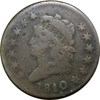 1810/09 1C CLASSIC HEAD COPPER LARGE CENT FINE  OLD TYPE COIN CS39