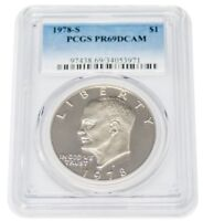 1978-S PR69DCAM EISENHOWER $1 ONE DOLLAR COIN PCGS