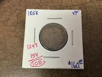 1858 CANADA SILVER 20 CENTS. KEY DATE.