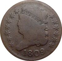 1809 CLASSIC HALF CENT--GOOD