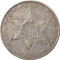 1856 SILVER THREE CENT PIECE--EXTRA FINE