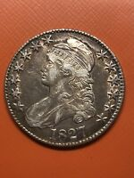 1827 CAPPED BUST HALF DOLLAR EXTRA FINE  AND  TONING