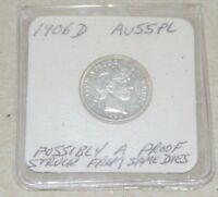 1906-D BARBER DIME MINT STATE POSSIBLY PROOF STRUCK FROM SAME DIES