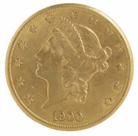 $20 GOLD LIBERTY DOUBLE EAGLE COIN  RANDOM DATE  VF OR BETTER   0.9675 OZ