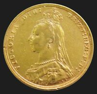 1892 GOLD GREAT BRITAIN SOVEREIGN 7.98 GRAMS JUBILEE HEAD DR